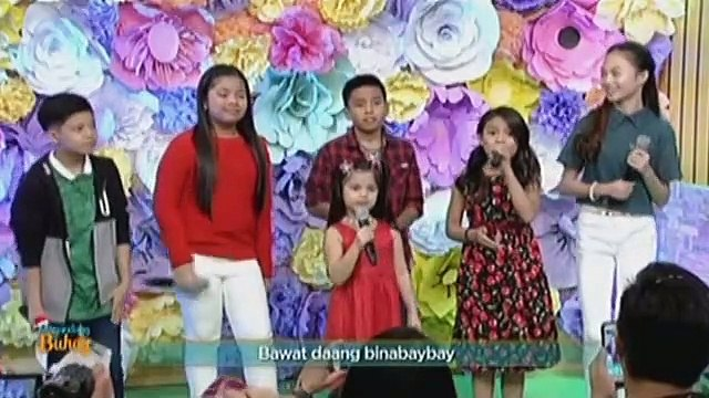 Your Face Sounds Familiar Kids contestants sing Isang Pamilya Tayo