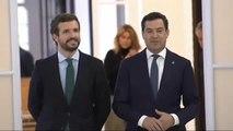 Pablo Casado se reúne con el presidente de la Junta de Andalucía en Sevilla