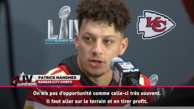 """FOOTBALL AMERICAIN : Super Bowl LIV - Mahomes : """"Un super groupe de joueurs"""""""