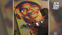 Kobe Bryant fan creates massive mosaic out of Rubik's cubes