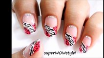 French Manicure Nail Art - (For Beginners) _ Easy Nail Art Designs _ SuperWowStyle Prachi