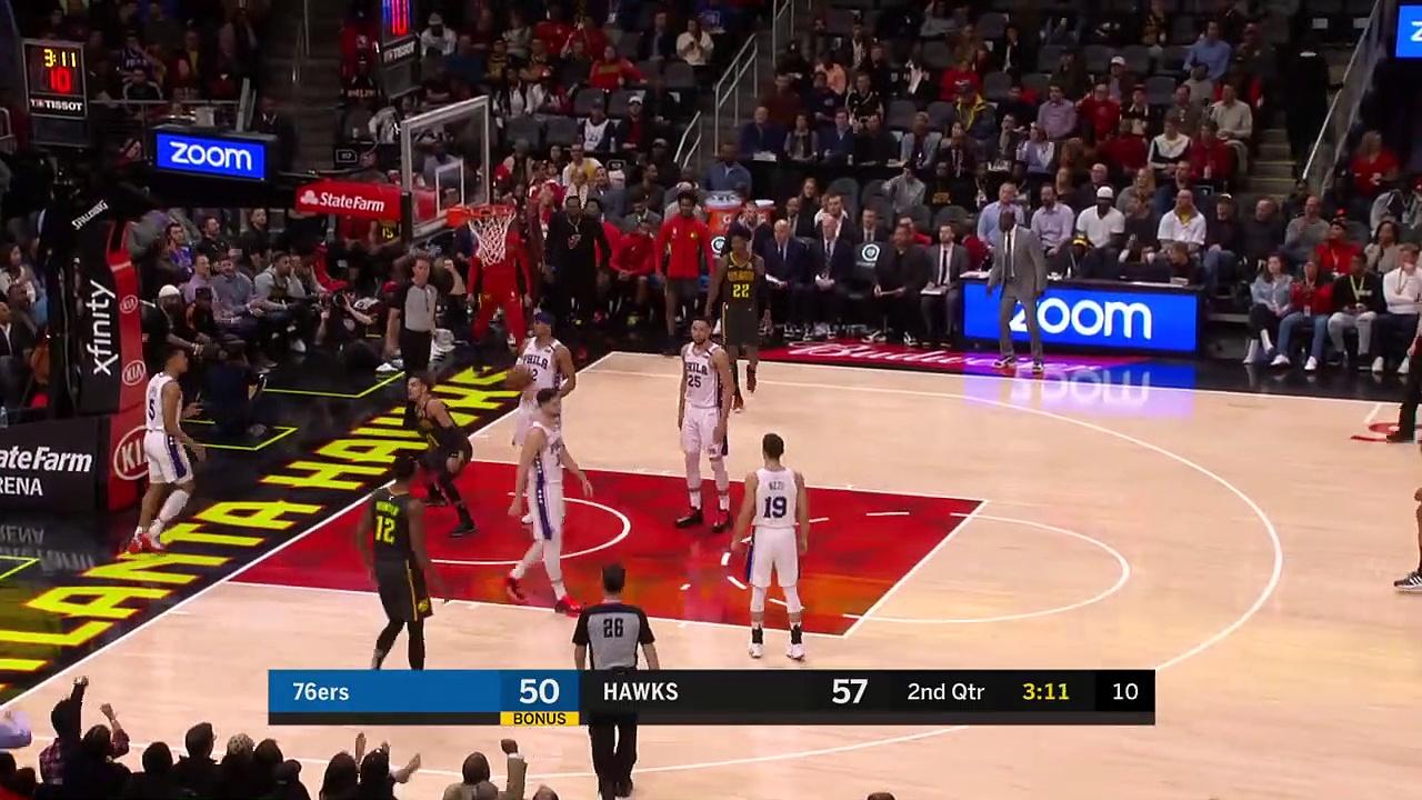 Philadelphia76ers 117 - 127 Atlanta Hawks