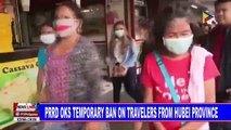 PRRD OKs temporary ban on travelers from Hubei province