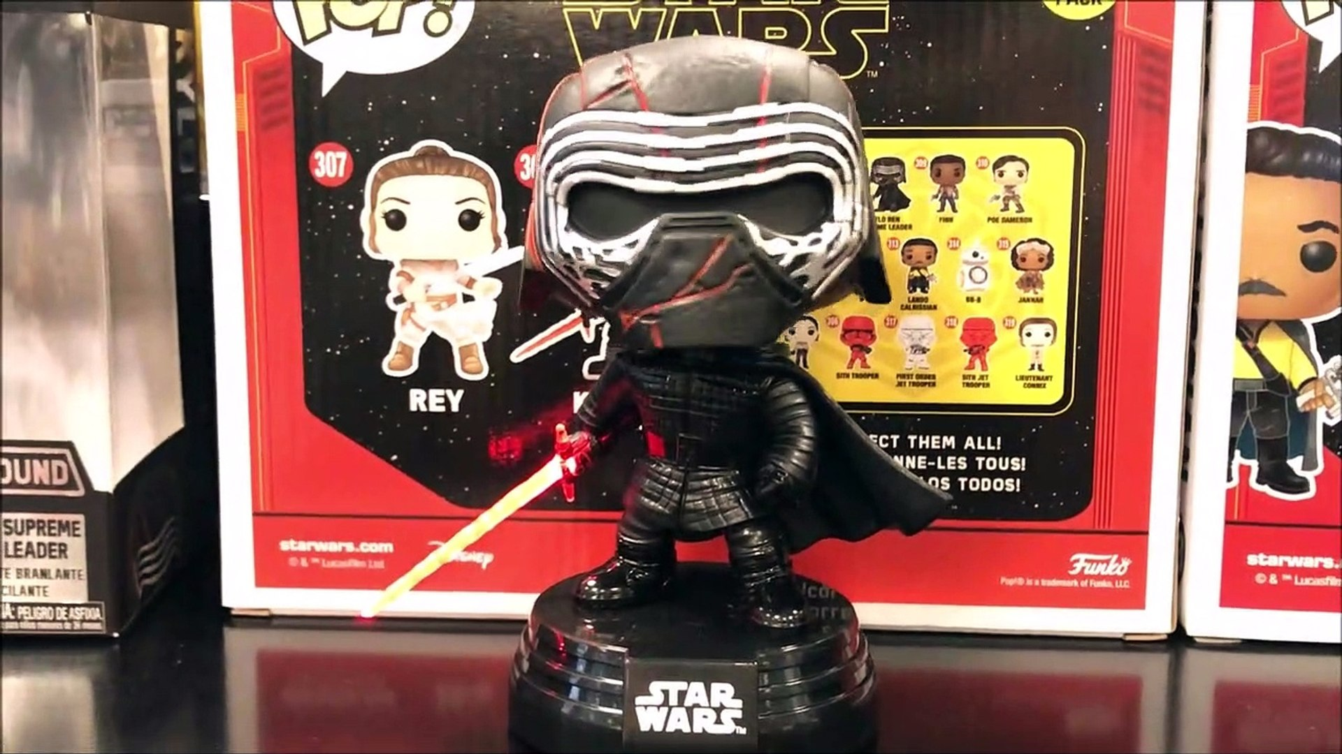 Star Wars Kylo Ren Supreme Leader Light And Sound Funko Pop Review Video Dailymotion