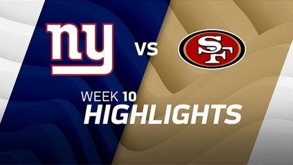 Giants vs. 49ers highlights | Week 10