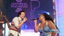 Harry Styles Performs 'Juice' With Lizzo in Miami | Billboard News