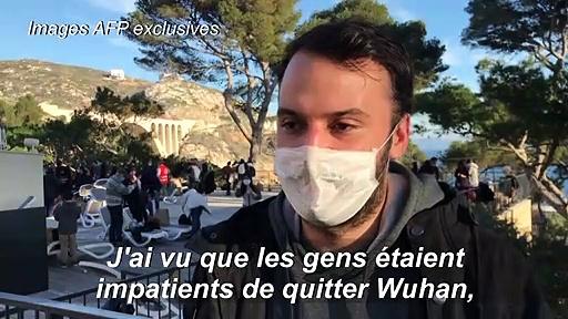 EXCLUSIF : Rapatriés de Wuhan, épicentre du coronavirus, des journalistes AFP témoignent