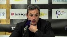 Le coach Rémi Giuitta après la défaite de Fos Provence Basket contre Antibes
