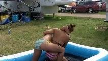Country Fest Bikini Mud Wrestling, Ariel & Gina Rumble In the Jungle