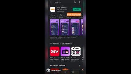 Cara Update & Download Aplikasi Suria Malaysia