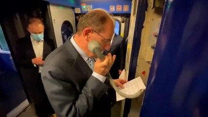 Jean Castex joue au chef de bord pour le retour du train de nuit Paris-Nice