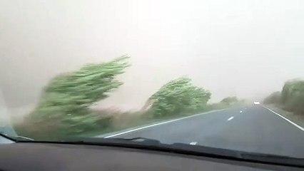 Conduire dans cette tempête relève de beaucoup de courage