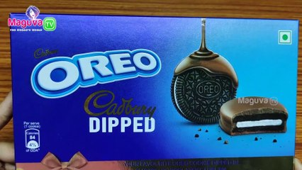 Oreo Cadbury Dipped Cookie Review | Oreo Sandwich Biscuit Dipped in chocolaty Cadbury  | Food Review #2 Maguva tv