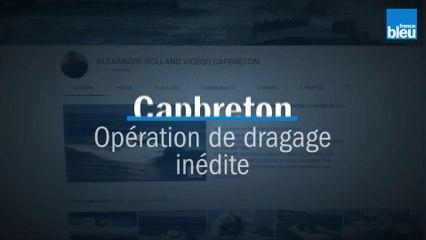 Opération dragage à Capbreton