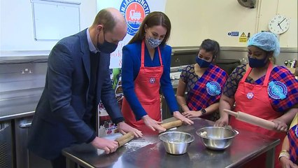 William and Kate cook meals for vulnerable