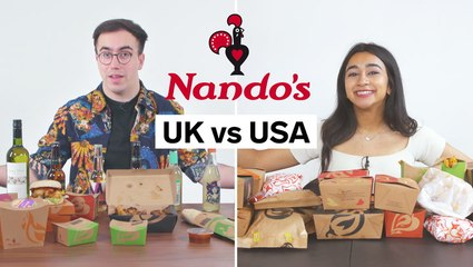 Every difference between UK and US Nando's including portion sizes, calories, and exclusive items