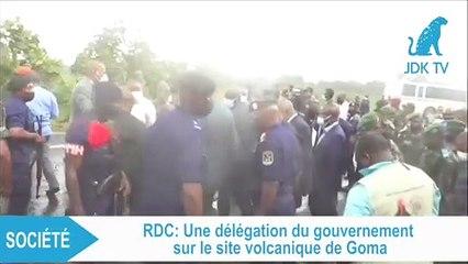 RDC : une délégation du gouvernement sur le site volcanique de Goma