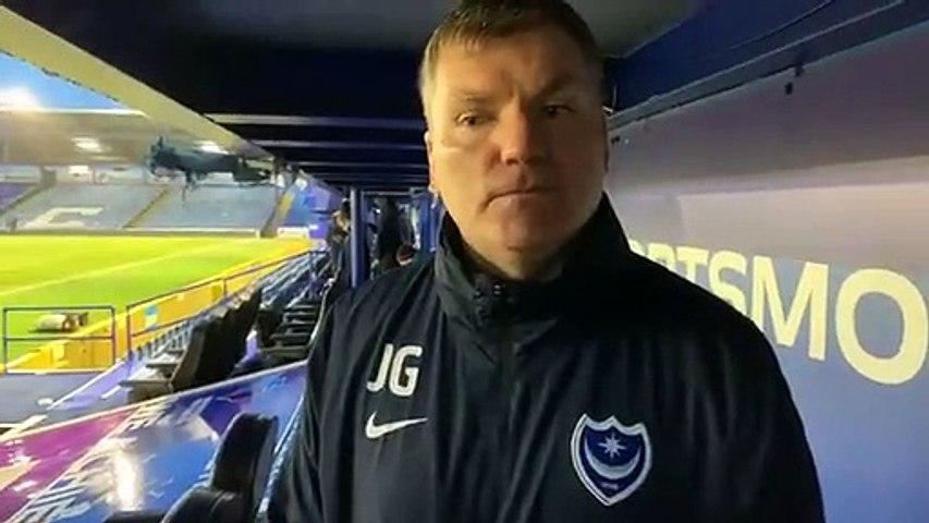 Joe Gallen speaks after Pompey's 2-0 win over Shrewsbury