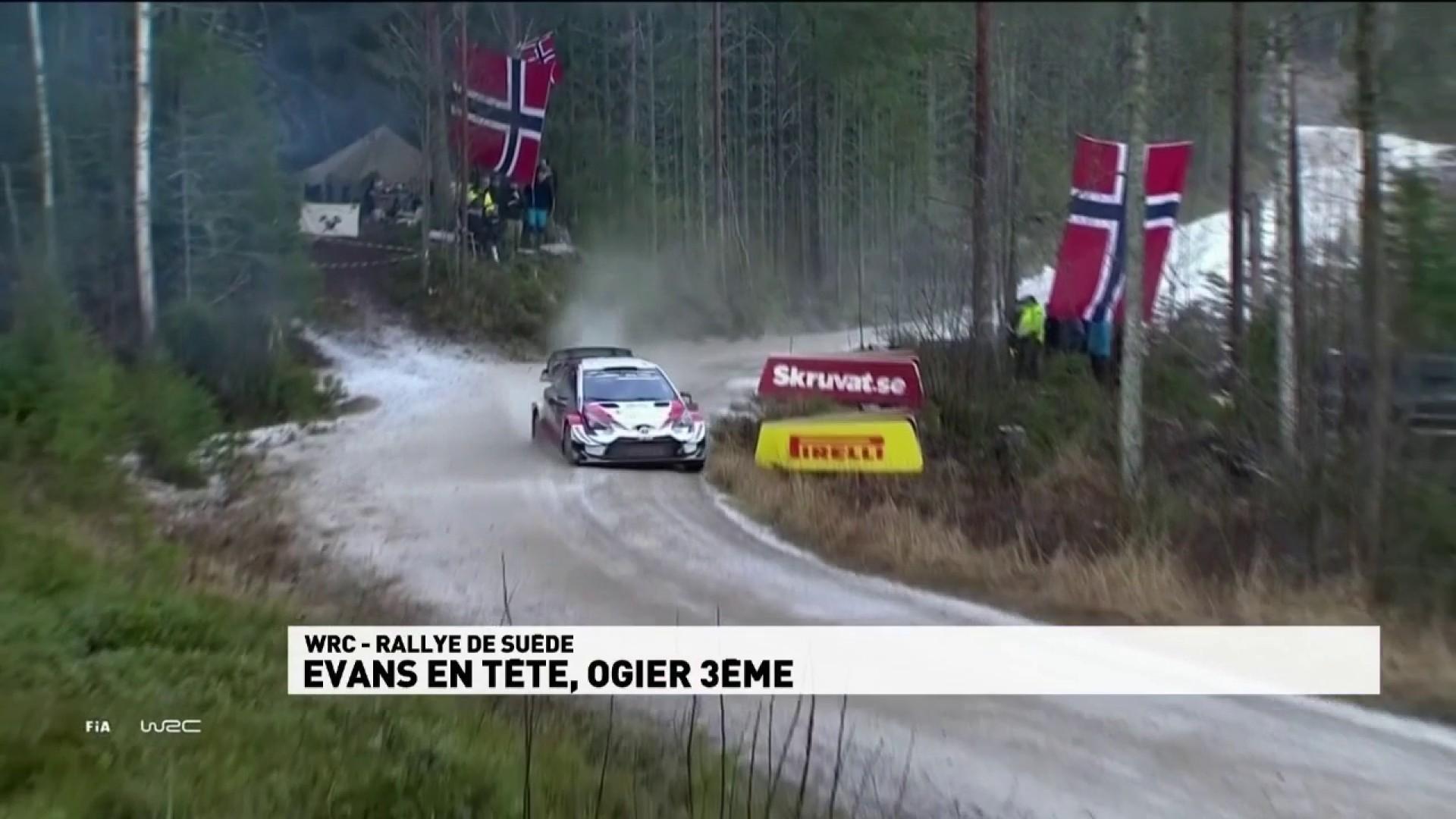 Rallye de Suède - Evans en tête, Ogier 3ème