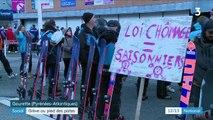 Social : les saisonniers font grève au pied des pistes