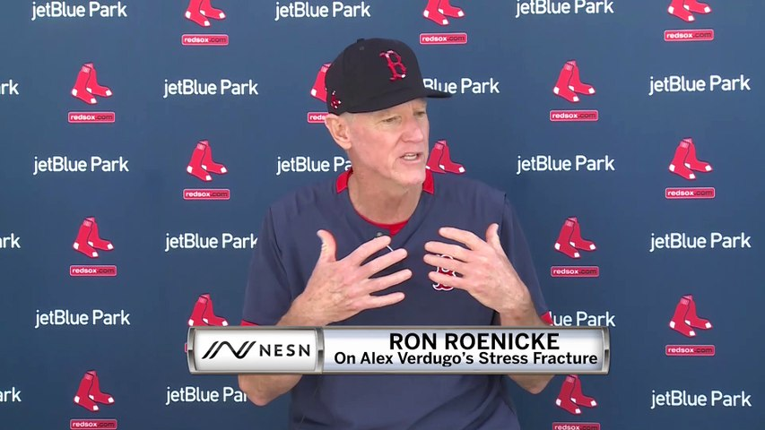 Red Sox Interim Manager Ron Roenicke On Alex Verdugo's Back Injury