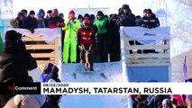 Une course de luge insolite et colorée en Russie