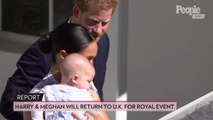 Queen Elizabeth Requests Meghan Markle, Prince Harry & Baby Archie's Return to U.K. for Royal Event