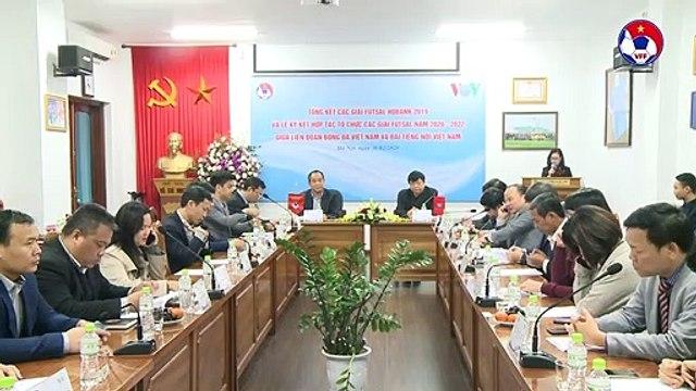LĐBĐVN và Đài Tiếng nói Việt Nam tiếp tục ký kết hợp tác tổ chức các giải Futsal 2020 - 2022