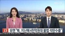 """유엔 """"북, 지난해 4천억원대 불법 석탄수출"""""""