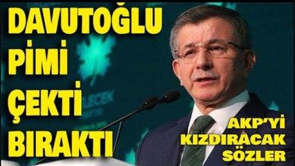 """Ahmet Davutoğlu AKP'deki """"siyasi ayağı"""" işaret etti"""
