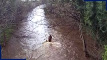Dramatic video shows fast-flowing Water of Leith after Storm Ciara hit Edinburgh
