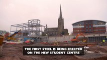 First steel erected on UCLan's new Student Centre