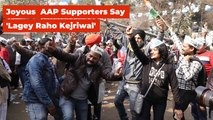 Ecstatic AAP Supporters Celebrate Victory Outside Party Office | The Wire