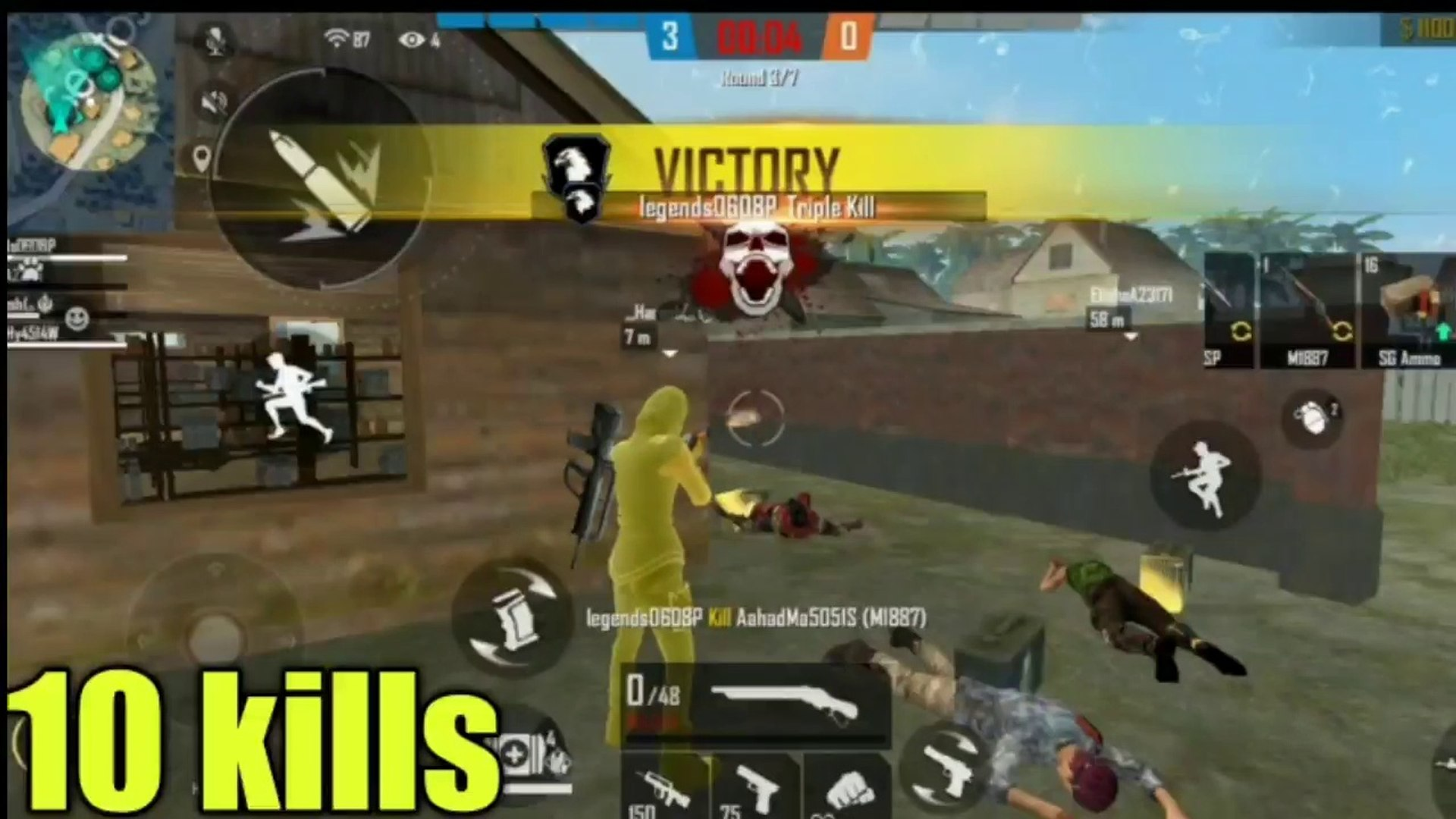 Clash Squad Game Play 4vs4 Team 10 Kill New Game Mode Garena Free Fire Video Dailymotion