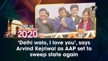 'Delhi walo, I love you', says Arvind Kejriwal as AAP set to sweep state again
