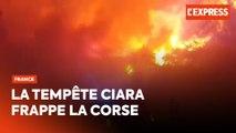 Tempête Ciara : incendies et vents violents en Corse