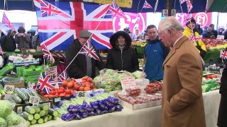 Prince of Wales and Duchess of Cornwall visit market