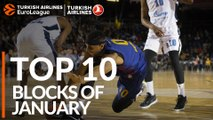 Turkish Airlines EuroLeague, Top 10 Blocks of January!