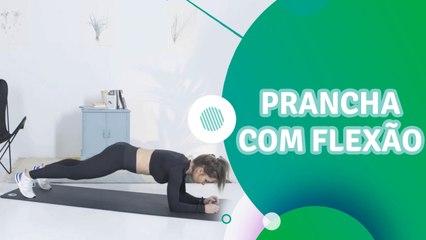 Prancha com flexão - Sou Fitness