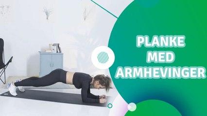 Planke med armhevinger - Trenings Glede