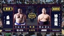 Hakuho vs Myogiryu - Hatsu 2020, Makuuchi - Day 3
