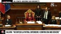 """Processo Gregoretti, Salvini risponde in Senato """"Ho fatto il mio dovere""""   Notizie.it"""