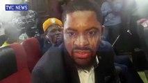 Deji Adeyanju speaks at Sowore's trial