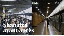 Les images de Shanghai, avant et après l'arrivée du coronavirus Covid-19