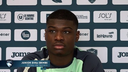 Avant Paris FC - HAC, interview de Junior Dina Ebimbe
