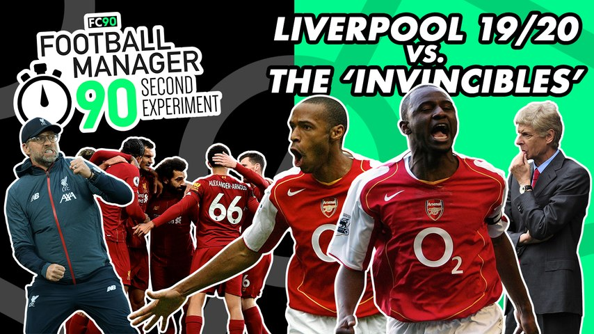 Liverpool 19/20 vs. Arsenal's 'Invincibes' | Football Manager Experiment