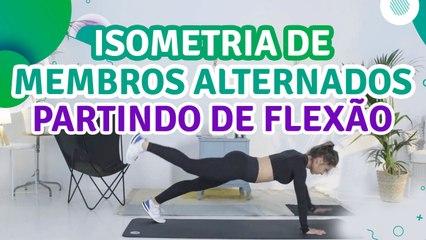 Isometria de membros alternados partindo de flexão - Sou Fitness
