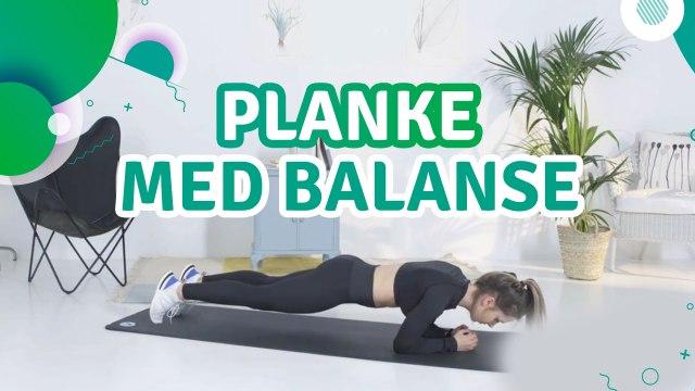 Planke med balanse - Trenings Glede