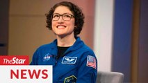 Record-setting female astronaut talks life on earth