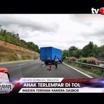 Berkendara Ugal-ugalan di Tol, Anak Terlempar ke Luar Mobil